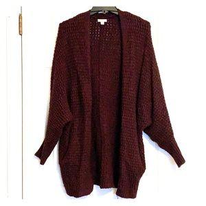 Chunky cocoon cardigan sweater